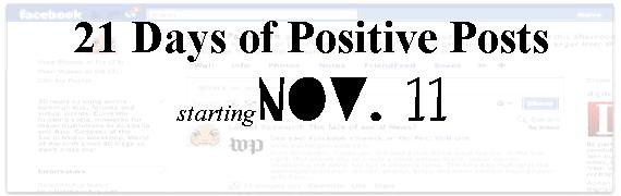 21 Days of Positive Posts vpb